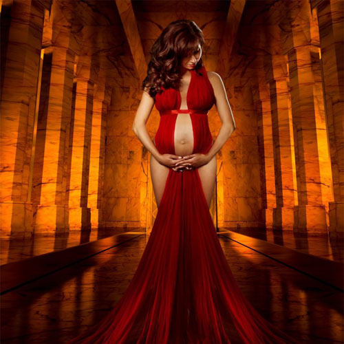 Pregnant Red Dress